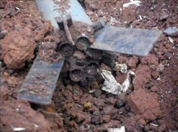 air-to-surface rocket found by ABSDF troops near Laiza 28.12.2012