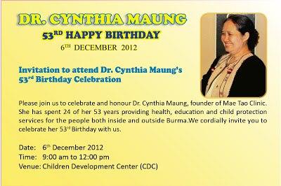 happy birthday mae cynthia-founder of mae tao clinic