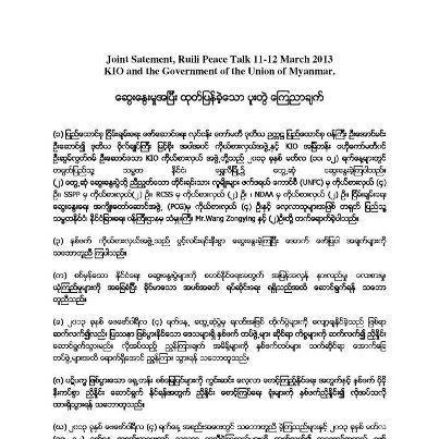 joint statement peace talk