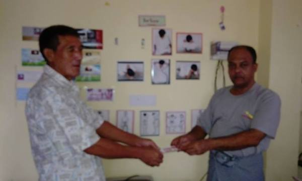 AAPP-B provided money for medical check up