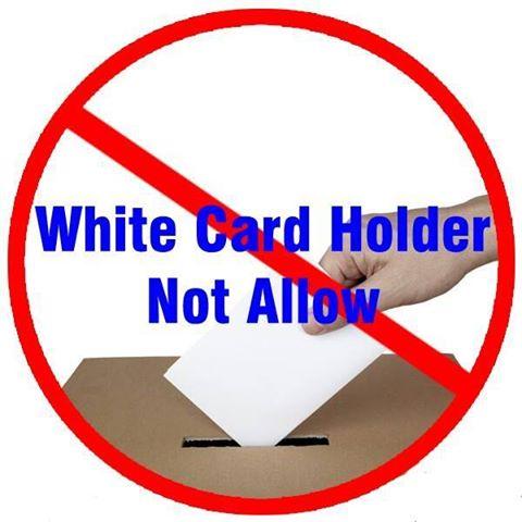 WHITE CARD HOLDER